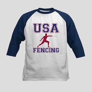 USA Fencing Kids Baseball Jersey