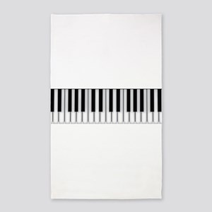 piano keys Area Rug