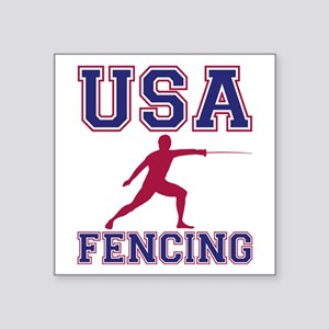 Usa Fencing Sticker