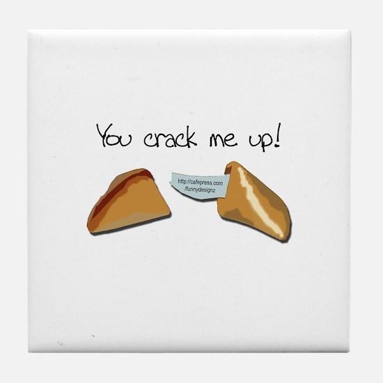 Crack Me Up Tile Coaster