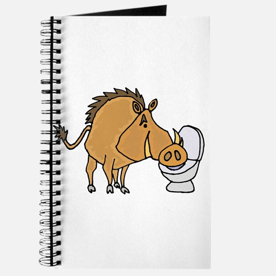 Warthog Drinking from Toilet Journal