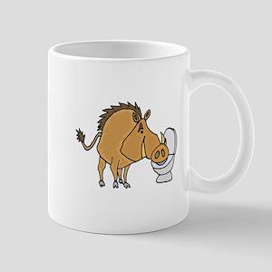 Warthog Drinking from Toilet Mugs