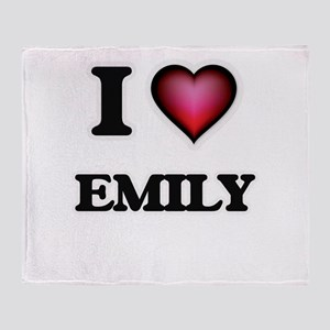 I Love Emily Throw Blanket