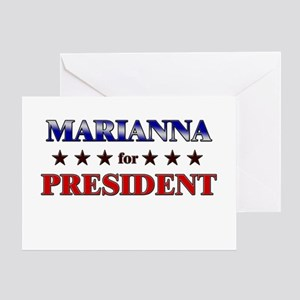 MARIANNA for president Greeting Card