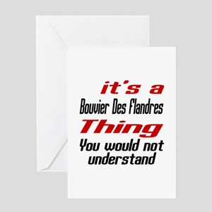 Bouvier Des Flandres Thing Dog Desig Greeting Card