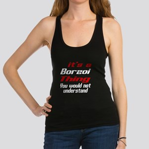 Borzoi Thing Dog Designs Racerback Tank Top