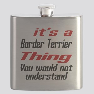 Border Terrier Thing Dog Designs Flask