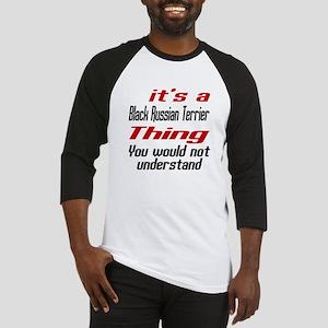 Black Russian Terrier Thing Dog De Baseball Jersey