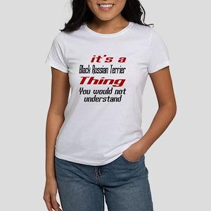 Black Russian Terrier Thing Dog De Women's T-Shirt