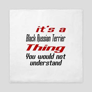 Black Russian Terrier Thing Dog Design Queen Duvet