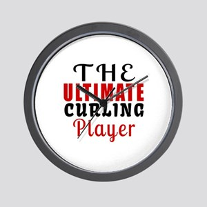 The Ultimate Curling Player Wall Clock