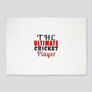 The Ultimate Cricket Player 5'x7'Area Rug