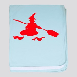 Witch canoe red baby blanket
