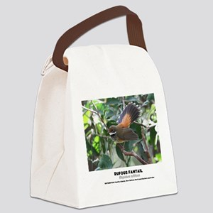 RUFOUS FANTAIL - Rhipidura rufifr Canvas Lunch Bag