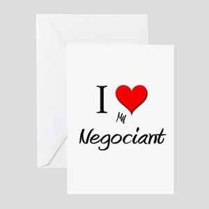 I Love My Negociant Greeting Cards (Pk of 10)