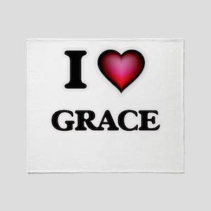 I Love Grace Throw Blanket