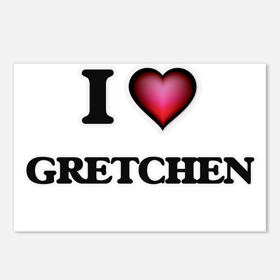 I Love Gretchen Postcards (Package of 8)