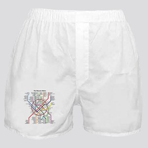 METRO MAPS - MOSCOW - RUSSIA. Boxer Shorts
