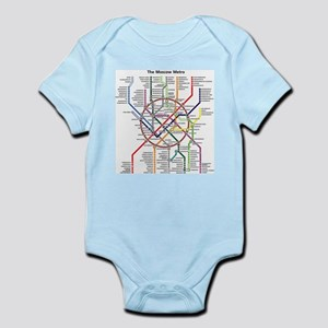 METRO MAPS - MOSCOW - RUSSIA. Body Suit