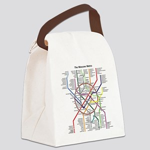 METRO MAPS - MOSCOW - RUSSIA. Canvas Lunch Bag
