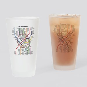 METRO MAPS - MOSCOW - RUSSIA. Drinking Glass
