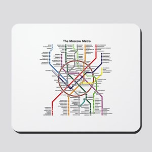 METRO MAPS - MOSCOW - RUSSIA. Mousepad