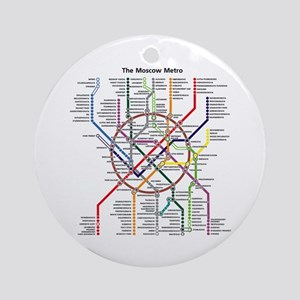 METRO MAPS - MOSCOW - RUSSIA. Round Ornament