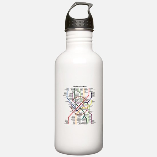 METRO MAPS - MOSCOW - Water Bottle
