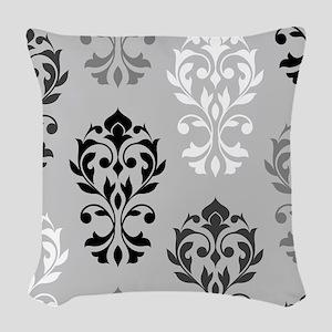Heart Damask Art I Bwg Woven Throw Pillow