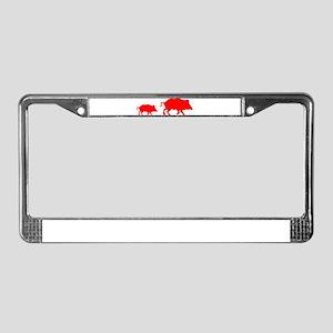 Pigs License Plate Frame