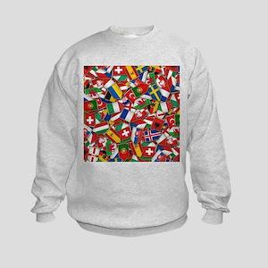 European Soccer Nations Flags Kids Sweatshirt