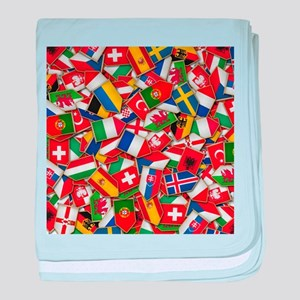 European Soccer Nations Flags baby blanket