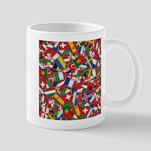 European Soccer Nations Flags Mugs