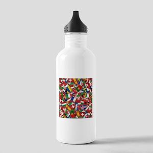 European Soccer Nation Stainless Water Bottle 1.0L