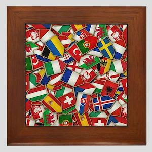 European Soccer Nations Flags Framed Tile