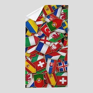 European Soccer Nations Flags Beach Towel