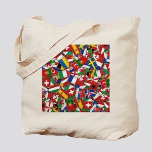 European Soccer Nations Flags Tote Bag