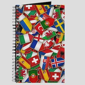 European Soccer Nations Flags Journal