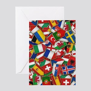 European Soccer Nations Flags Greeting Cards