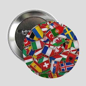 "European Soccer Nations Flags 2.25"" Button"