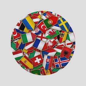 European Soccer Nations Flags Button