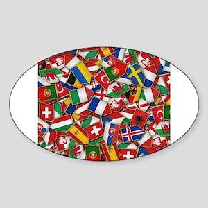 European Soccer Nations Flags Sticker
