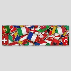 European Soccer Nations Flags Bumper Sticker