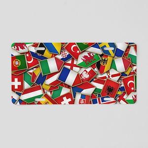 European Soccer Nations Fla Aluminum License Plate
