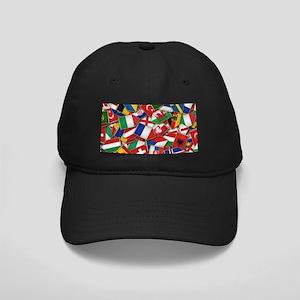 European Soccer Nations Flags Black Cap