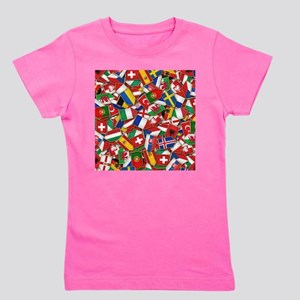 European Soccer Nations Flags Girl's Tee
