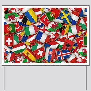 European Soccer Nations Flags Yard Sign
