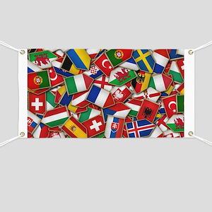 European Soccer Nations Flags Banner