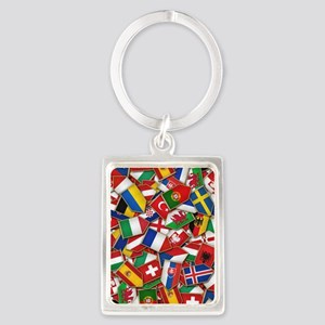 European Soccer Nations Flags Keychains