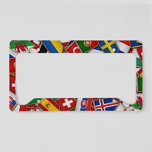 European Soccer Nations Flags License Plate Holder